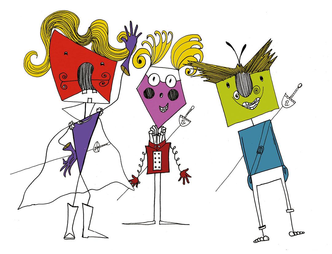 fifi disegno autografo di Francesca Fiaschi, per le favole illustrate per bambini